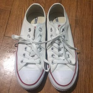 White converse all-star sneakers